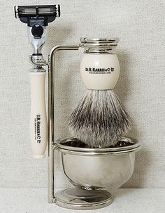 The promise of really good shave! But replace that razor with a great safety or butterfly razor.