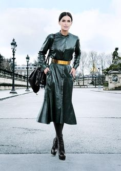 Street Style at Paris Fashion Week RTW Autumn / Winter 2014 - Photo: Claudia Fessler / ModeMajeure Star Fashion, Fashion Outfits, Womens Fashion, Paris Fashion, Classy Outfits, Cool Outfits, Parisian Summer, Leather Dresses, Leather Outfits
