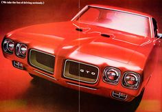 1969 Ads 1970 Pontiac GTO 2 Door Coupe Muscle Car GM 400 6.6L V8 Engine YCD7