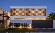 fachada com elemento vazado