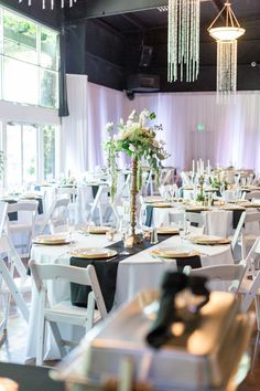 Reception Tables Tall Centerpieces | The-Palms-Chico-California-Wedding-Photographer-TréCreative