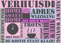 Verhuiskaart Tekst - Verhuiskaarten - Kaartje2go