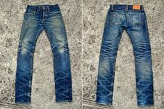 Coolest jeans I've ever seen. Rawr Denim Fade Friday - IndigoSkin V-Series (11 Months, 2 Soaks, 1 Wash)