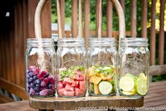Make your own vitamin water (great electrolyte drinks for your summer workouts!)