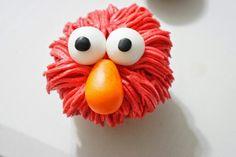 Cupcake crema de mantequilla y fondant Elmo