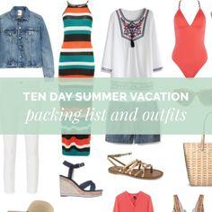 Ten Day Summer Vacation Packing List and Outfits http://getyourprettyon.com/14-piece-ten-day-summer-vacation-packing-list/?utm_campaign=coschedule&utm_source=pinterest&utm_medium=Alison%20Lumbatis%20%7C%20Get%20Your%20Pretty%20On&utm_content=Ten%20Day%20Summer%20Vacation%20Packing%20List%20and%20Outfits