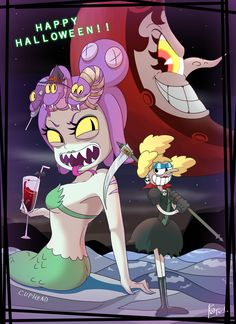 See more 'Cuphead' images on Know Your Meme! Cala Maria, Deal With The Devil, Anime Fnaf, Very Scary, Cartoon Games, Know Your Meme, Funny Comics, Happy Halloween, Cool Art