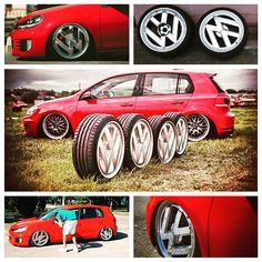 """There are some pretty impressive one-off wheels floating around at the moment but @sharifov's 19"""" VW logo show hoops are up there with the most unique. Would ya?"""