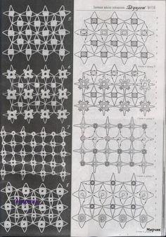 crochet rete con motivi flori