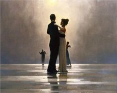 Dance Me to the End of Love by Jack Vettriano...I love the softness!