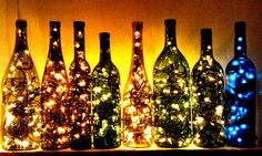 "My latest find on Trusper may blow you away: ""DIY Wine Bottle Lights ✨"""