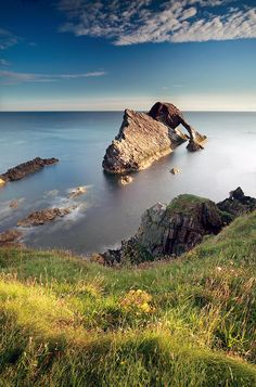 Wonderful view ... Bow Fiddle Rock Photograph by Grant Glendinning - Bow Fiddle Rock Fine Art Prints and Posters for Sale