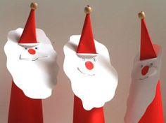 Christmas Papercraft for Kids - How to Make a Santa Claus Paper Toy