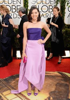 Golden Globes Best Dressed: Aubrey Plaza in Oscar de la Renta