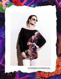 Amanda Emmanuel - Autumn/Winter 2012    PYRITE - Cotton TShirt    http://www.amandaemmanuel.com/collections/shop/products/pyrite    Exclusively available at Ursula B www.ursulab.com