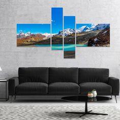 Designart 'Alps Mountain Fountain' Photography Canvas Art Print