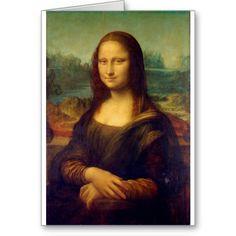 Leonardo da Vinci Mona Lisa Gifts Greeting Cards