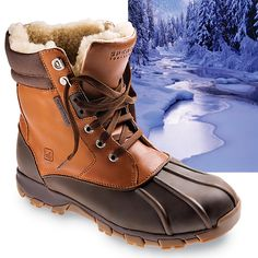 A great looking and great feeling pair of men's snow boots. A lot of times snow boots are very ugly. Hiking, shoveling the walks, whatever your doing in the cold, these are great for you! Me Too Shoes, Men's Shoes, Shoe Boots, Ankle Boots, Mens Snow Boots, Rain Boots, Mens Winter Gear, Tims Boots, Sperry Duck Boots