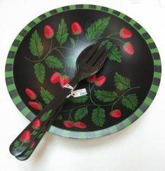 Sherwood Forest strawberry bowl Strawberry Bowls, Strawberry Kitchen, Strawberry Fields Forever, Sherwood Forest, Salad Bowls, Strawberries, Wedding Gifts, Addiction, Decorative Plates