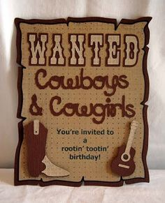 western-themed party invitation