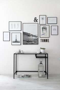 Gallery wall + Ikea Vittsjö