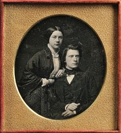 American School, 19th Century Quarter-plate Daguerreotype Portrait of a Man and Woman | Sale Number 2727B, Lot Number 135 | Skinner Auctioneers