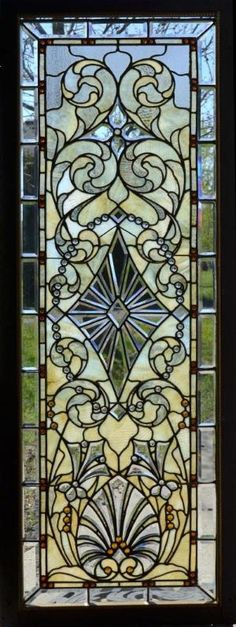 1 of 3 Antique American Stained/Jeweled and Beveled Glass Windows.  Originally installed in the Indiana Governors Mansion by elena.pankina.319