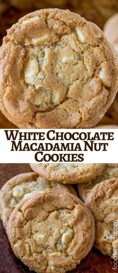 White Chocolate Macadamia Nut Cookies are the perfect addition to your Christmas Cookie Roundup and a kid favorite for non chocolate chip options! via @foodfunkids