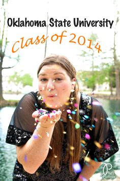 Graduation pictures, senior pictures, confettii, OSU, OKstate, Oklahoma State University, Pita's Pictures, www.pitaspictures.com