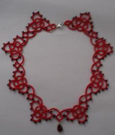 Needle Tatting, Crochet Necklace, Jewelry Making, Beautiful, Jewellery Making, Make Jewelry, Diy Jewelry Making