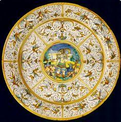 #Maiolica  --  Plate  --  Deruta  --  Circa 1620-1650  --  National Museum Of Scotland.