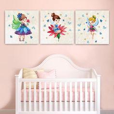 Παιδικοί πίνακες σε καμβά Νεράιδες Toddler Bed, Sweet, Happy, Furniture, Shadow Box, Home Decor, Art, Child Bed, Candy