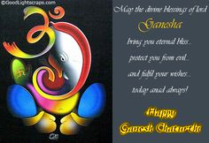 May Lord Ganesha come to your house and take away all your Laddus n Modaks with all your worries and sorrows.Shubh Ganesh Chaturthi.