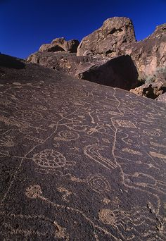 Indian symbols in Owens valley, California KH did his thesis on Owens valley.