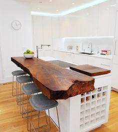 Rustic wood counter top