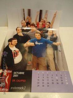 PÓSTER DR. CALYPSO. CALENDARIO - OCTUBRE 2001. 29.5 X 41.5 CM. REVISTA ENDERROCK. NUEVO.