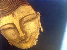 Bouddha. Peinture sur toile.50x40 acrylique Bob