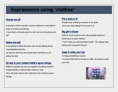 """Clothes"" idioms #LearnEnglish"