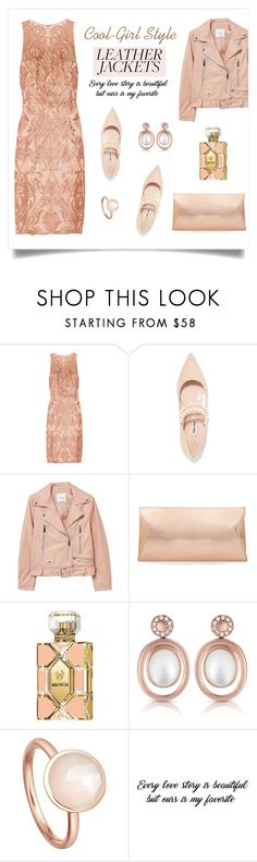 """Cool-Girl Style: Leather Jackets"" by alinepinkskirt on Polyvore featuring Notte by Marchesa, Miu Miu, MANGO, Steve Madden, Wildfox and Astley Clarke"
