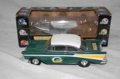 57 CHEVY GREEN BAY PACKERS DIECAST BANK COLLECTORS EDITION FROM THE SB 1996 YEAR