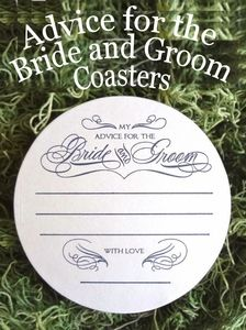 Advice for the Bride & Groom Coasters - great gift idea for bridal showers, engagement and bachelorette parties!