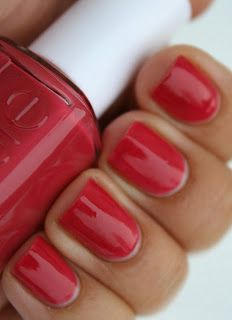 Essie - Swept off my feet. good red.