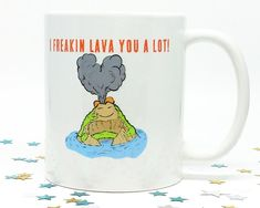 I Lava You, Coffee Mug, Coffee Cup, Anniversary Present, Gift for Her, Gift for Him, Happy Birthday Gift, Funny Present, Wedding Gift
