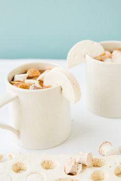 Drink Up: Salted Caramel Hot Chocolate with Homemade Salted Caramel Marshmallows - Paper and Stitch