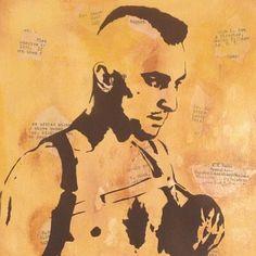 """Taxi Driver"" - Plutonium™ Paint, Custom Stencil & Collage on canvas (11 x 14) by @artgland & @artist_rayferrer #PlutoniumPaint #SprayPaint #MadeInTheUSA"