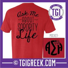 Alpha Sigma Alpha - TGI Greek - Comfort Colors - Greek T-shirts - #TGIGreek #AlphaSigmaAlpha