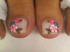 Pedicure Colors, Pedicure Nail Art, Toe Nail Art, French Pedicure Designs, Toe Nail Designs, Wedding Pedicure, Wedding Nails, Pedicure Pictures, Summer Toe Nails