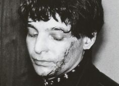 """""""If the violence got really bad, what I'd do was smash a bottle and start cutting my face up. That seemed to have a calming effect on the crowd. I guess they reasoned that I was so fucking nuts that nothing they could do would bother me."""" Alan Vega"""