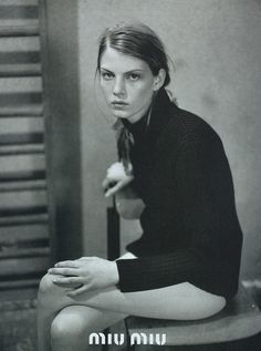 Angela Lindvall by Glen Luchford for Miu Miu, SS 1997