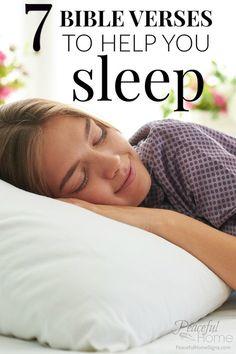 7 Bible Verses to Help You Sleep   Scriptures about Sleep   What does the bible say about sleep?   Bible verses insomnia